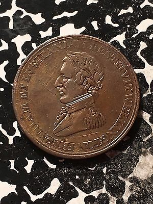 1812 Canada Wellington Halfpenny Token Lot#1319 Old Cleaning