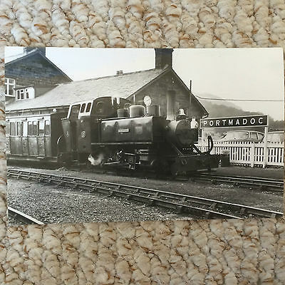 1970 black & white photo ??? of 2-6-2 Mountaineer @ Portmadoc Station