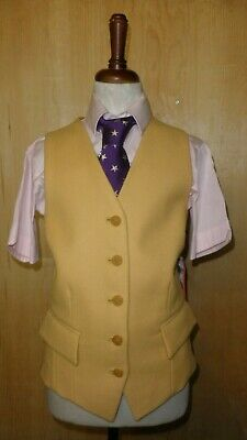 Mears Pytchley Girls York Waistcoat Red and Yellow Ideal For Hunting/Showing