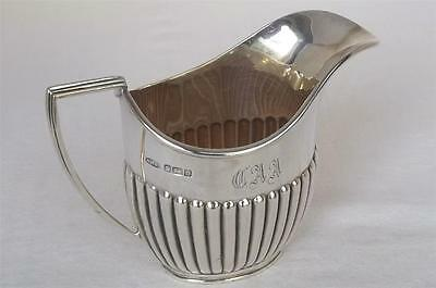 An Antique Solid Sterling Silver Edwardian Cream Milk Jug Sheffield 1906.