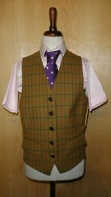 Mears Pytchley Girls York Checked Waistcoat Ideal For Hunting/Showing