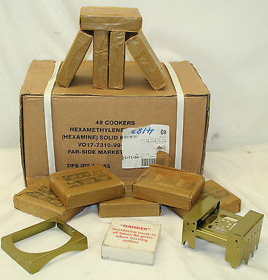 Job Lot British Army Issue Operational Ration Heater Hexamine Solid Fuel Cooker