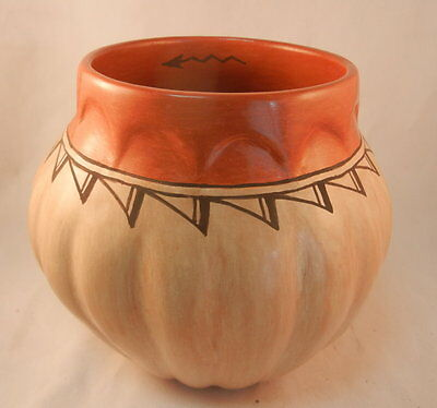 Native American Soft Melon Style Jar by Juanita Fragua