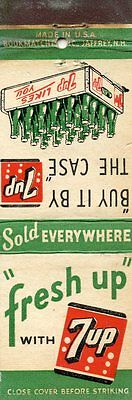 Fresh Up with Seven Up Soda Pop Matchbook