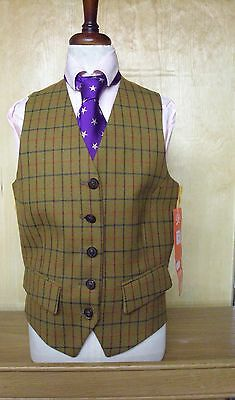 Mears Pytchley Ladies York Checked Waistcoat Ideal For Hunting/Showing