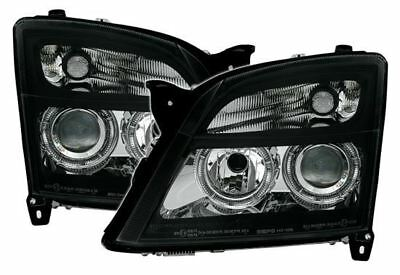 For Vauxhall Vectra C 2002-2005 Black Angel Eyes Halo Headlights Pair