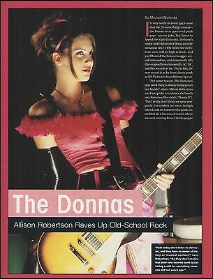 The Donnas Allison Robertson Gibson Les Paul guitar 8 x 11 article pin-up photo