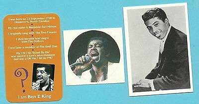 Ben E King Fab Card Collection The Drifters American soul and R&B singer