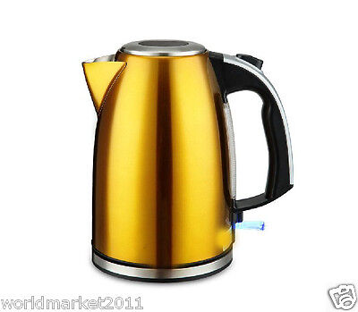 High-Grade Stainless Steel Capacity 1.8L Kitchen Electric Kettle Yellow