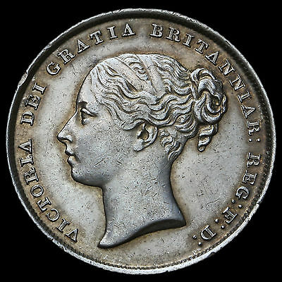 1839 Queen Victoria Young Head Silver Shilling