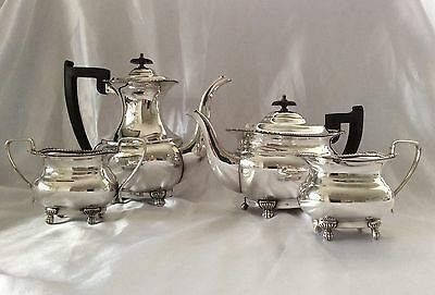 Superb Quality Vintage Viners Of Sheffield 4 Piece Silver Plated Teaset C.1930
