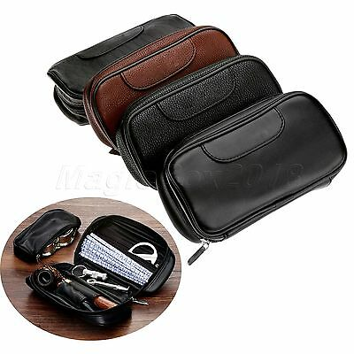 4 Colours Portable Smoking Pipe Tobacco Filter Tool Case Travel Bag PU Leather