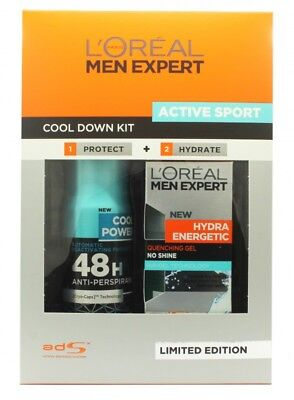 L'oreal Men Expert Active Sport Cool Down Kit Gift Set 50Ml Hydra Energetic Quen