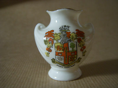 Rare Port Sunlight Crested Arcadian China Urn