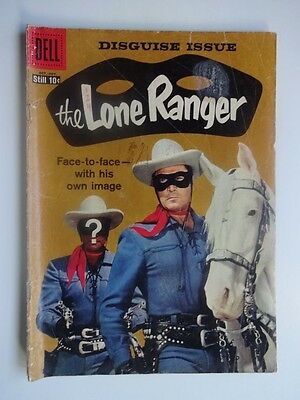 Lone Ranger #124  Western  Clayton Moore  Tonto   Silver  Tom Gill  Dell 1958