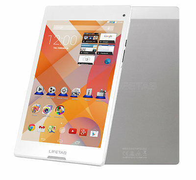 """MEDION LIFETAB S8312 MD 98989 Tablet PC 20,32cm/8"""" 3G 16GB 2GB Android 4.4 weiß"""