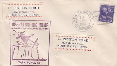 Fine Usa 1947 Operation High Jump Flagship Uss Mount Olympus Cover  17*