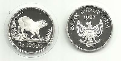 Indonesia Silver Proof 10000 Rp. 1987 Animal