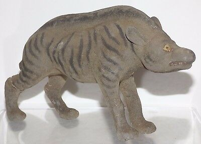 GPM001- Antique German Thuringia papier mache animal - Hyena 17cm long X 11 high