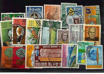 Ceylon Small Selection Of Used Stamps   My Ref 361