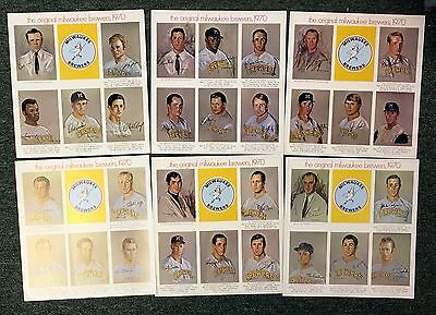 1970 Original Milwaukee Brewers Team Photo Set (31) Great Condition Must See