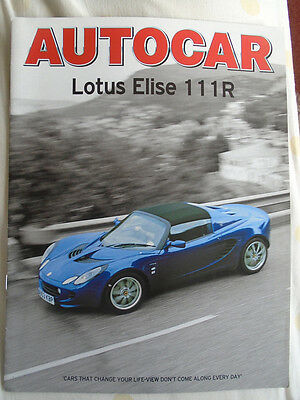 Lotus Elise 111R Autocar road test reprint brochure Feb 2004