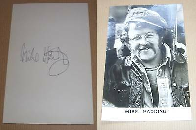 Vintage Comedian Mike Harding Signed Photo Card