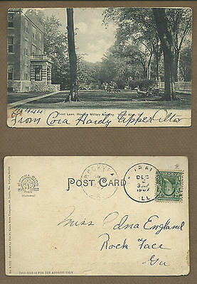 1907 Upper Alton IL,Western Military Academy & Front Lawn