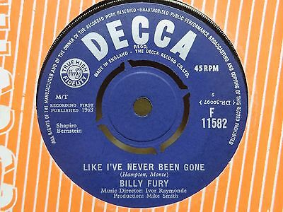 BILLY FURY ~ LIKE I'VE NEVER BEEN GONE / WHAT DO YOU THINK YOU'RE DOING OF Decca