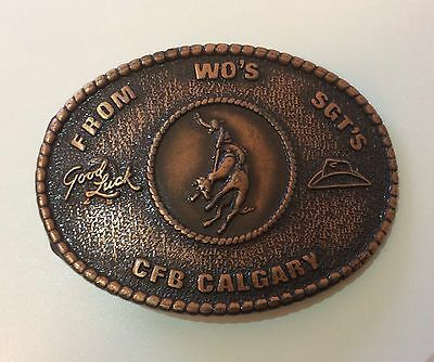 Collectable CFB CALGARY STAMPEDE WO's SGT's Lucky Belt Buckle Century Canada