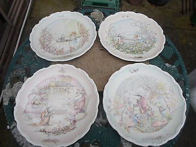 "Royal Doulton "" Wind in the Willows "" Set of Four Decorative Plates"
