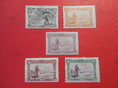 PORTUGAL 1895 ST ANTHONY 2.5, 5, 10, 15 and 25r MINT catalogued £55