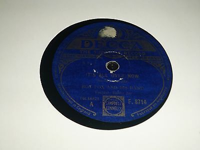 "JOBLOT Collection of 7x Various Dance Band 10"" 78RPM Gramophone Record 34/17"