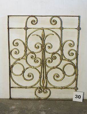 Antique Egyptian Architectural Wrought Iron Panel Grate (IS-30)
