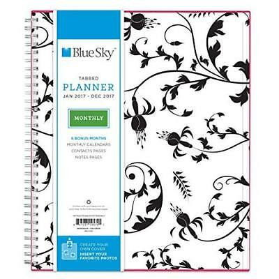 "Blue Sky 2017 Monthly Planner, Wire-O Binding, 8"" x 10"", Analeis (19570) New"