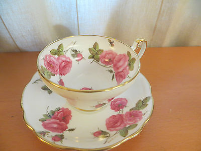 "Vintage Foley  Cup&saucer ""century Rose""  Signed Paul Granet 1950"