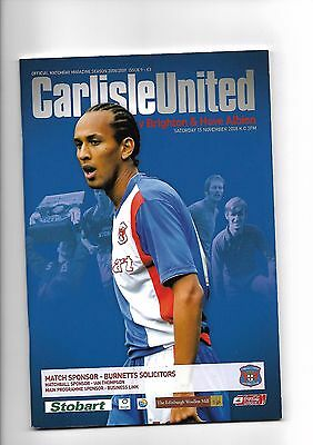 Carlisle United  v  Brighton & Hove Albion, 15th November 2008
