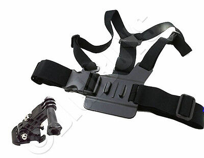 Adjustable Elastic Chest Strap Harness Mount for GoPro HD Hero 1 2 3 3+ 4 Screw