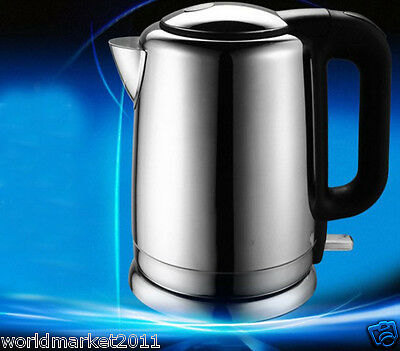 High-Grade Mirror Steel Capacity 1.5L Kitchen Electric Kettle Silver