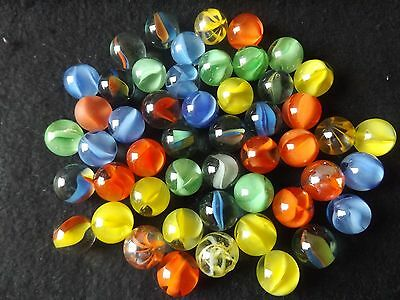 50 Assorted Glass Marbles