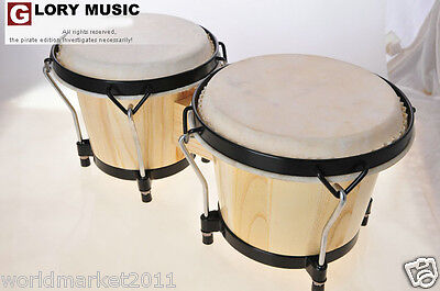 #5 New Wood Color Birch High Quality Musical Instruments Bongo Drums
