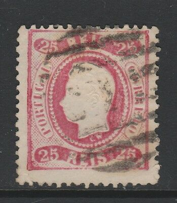 PORTUGAL 1867 - VERY NICE USED STAMP -25r PINK - SG 57