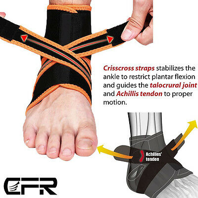 Adjustable Neoprene Ankle Support Brace Foot Drop Injury Elastic Splint Straps