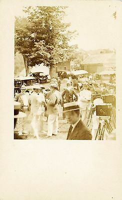 Real Photo Postcard Reporters at Calvin Coolidge's Homestead Many Cameras