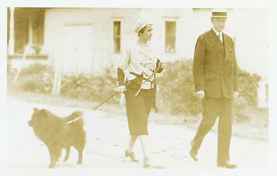 Real Photo Postcard  Calvin & Grace Coolidge at their Homestead in Plymouth, Vt