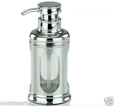 New Stainless Steel Chrome Plated Manual Soap Dispenser Hand Sanitizer Machine