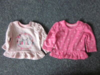 Girls Age 0-3 Months Tops X 2 Nwt