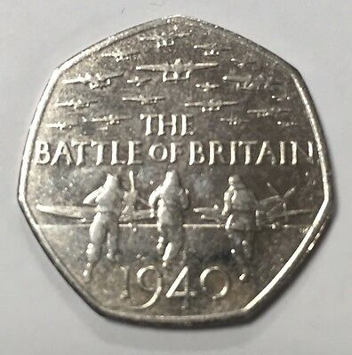 Battle of britain 50p Rare Coin Uk Collectors Limited Edition 50 New Pence