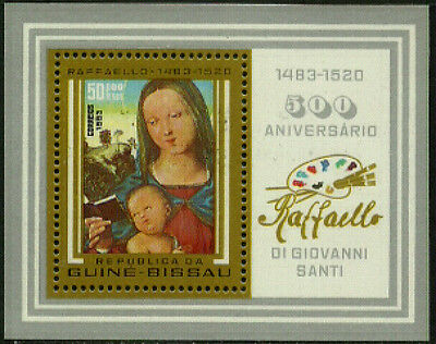 Guinea-Bissau #488 Mint Never Hinged S/Sheet - Raphael Painting