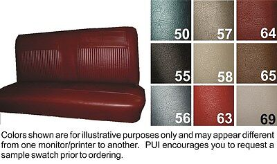 1962-64 Chevrolet Chevy II / Nova / SS Bright Red Coupe Rear Seat Cover - PUI